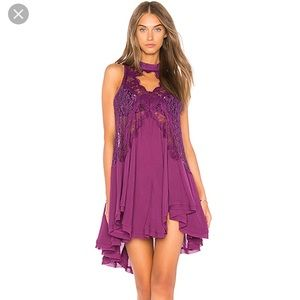 NEW NWT Free People Telltale Tunic Purple $108